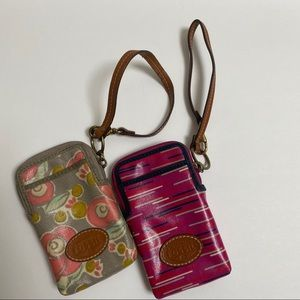 Fossil Set of Two Zippered Wallets